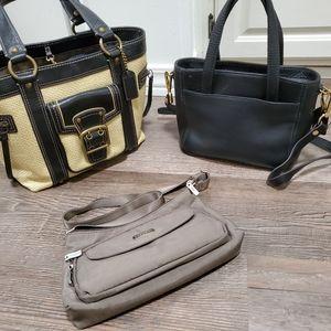 3 PC handbag lot